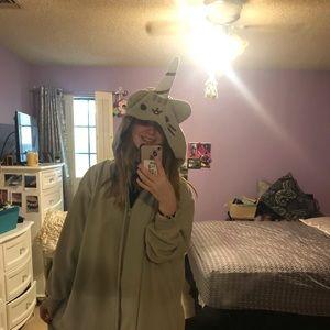 Pusheen Kigurumi unicorn onesie from hot topic.